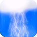 Water Droplets with Realtime Lightning and Thunder